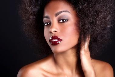 femme noire et peau mixte