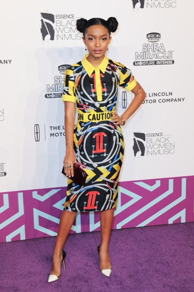 02/11/2016 - Yara Shahidi - 7th Annual Essence Black Women in Music - Arrivals - The Avalon - Hollywood, CA, USA - Keywords: full length, dress, actress Orientation: Portrait Face Count: 1 - False - Photo Credit: Aaron J. Thornton / PR Photos - Contact (1-866-551-7827) - Portrait Face Count: 1