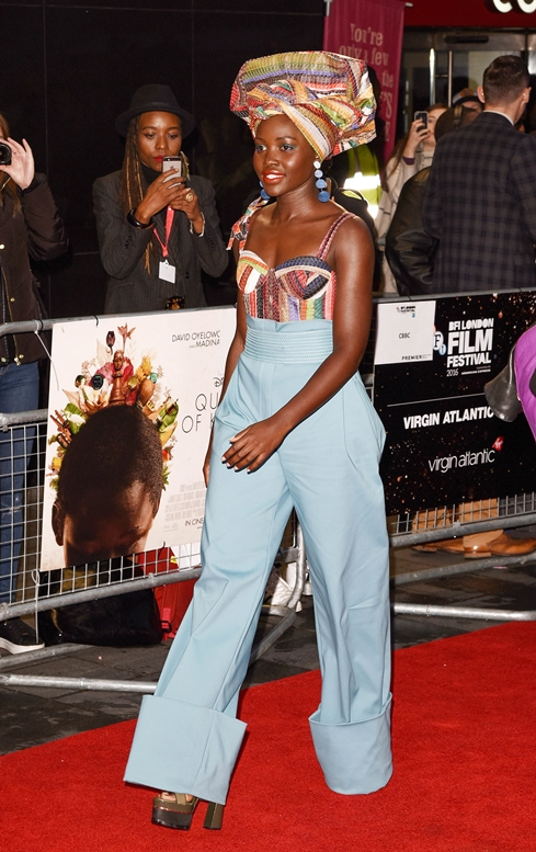 "10/09/2016 - Lupita Nyong'o - 60th Annual BFI London Film Festival - ""Queen of Katwe"" Premiere - Arrivals - Odeon Leicester Square - London, UK - Keywords: Vertical, LFF, Disney, London Film Festival, Biography, Drama, Sport, Chess, People, Person, Film Industry, Red Carpet Event, Arts Culture and Entertainment, Attending, Celebrity, Celebrities, Annual Event, United Kingdom, Britain, England, Ref: LMK392 -61100-101016 Orientation: Portrait Face Count: 1 - False - Photo Credit: Landmark / PR Photos - Contact (1-866-551-7827) - Portrait Face Count: 1"