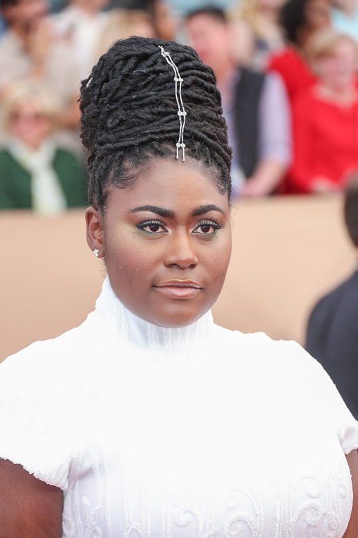 01/29/2017 - Danielle Brooks - 23rd Annual Screen Actors Guild Awards - Arrivals - The Shrine Expo Hall, 665 W Jefferson Boulevard - Los Angeles, CA, USA - Keywords: Red Carpet Event, Annual Event, Actor, Award, Ceremony, 2017 SAG Awards, Portrait, Photography, Fashion, Arts Culture and Entertainment, Attending, Celebrities, Celebrity, Person, People City of Los Angeles, California Orientation: Portrait Face Count: 1 - False - Photo Credit: PRPhotos.com - Contact (1-866-551-7827) - Portrait Face Count: 1
