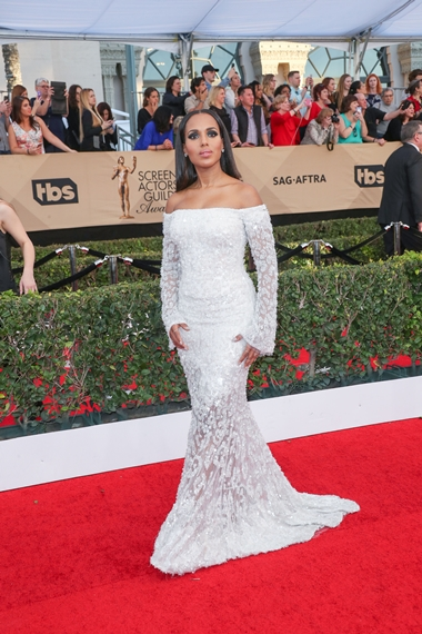 01/29/2017 - Kerry Washington - 23rd Annual Screen Actors Guild Awards - Arrivals - The Shrine Expo Hall, 665 W Jefferson Boulevard - Los Angeles, CA, USA - Keywords: Red Carpet Event, Annual Event, Actor, Award, Ceremony, 2017 SAG Awards, Portrait, Photography, Fashion, Arts Culture and Entertainment, Attending, Celebrities, Celebrity, Person, People City of Los Angeles, California Orientation: Portrait Face Count: 1 - False - Photo Credit: PRPhotos.com - Contact (1-866-551-7827) - Portrait Face Count: 1