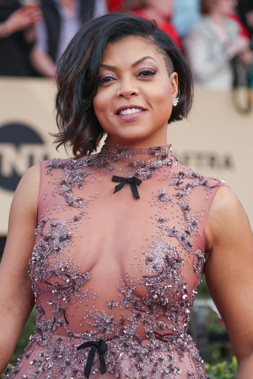 01/29/2017 - Taraji P. Henson - 23rd Annual Screen Actors Guild Awards - Arrivals - The Shrine Expo Hall, 665 W Jefferson Boulevard - Los Angeles, CA, USA - Keywords: Red Carpet Event, Annual Event, Actor, Award, Ceremony, 2017 SAG Awards, Portrait, Photography, Fashion, Arts Culture and Entertainment, Attending, Celebrities, Celebrity, Person, People City of Los Angeles, California Orientation: Portrait Face Count: 1 - False - Photo Credit: PRPhotos.com - Contact (1-866-551-7827) - Portrait Face Count: 1